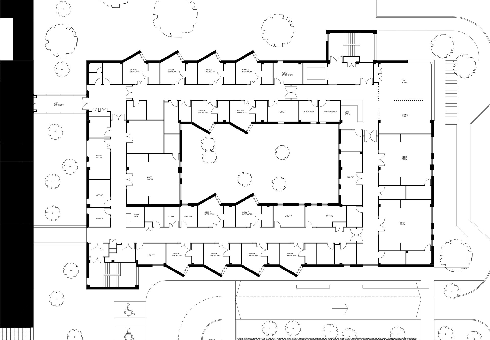 One Bedroom Modular Home Floor Plans Gallery Of Stobhill Hospital Ward Extension Reiach And