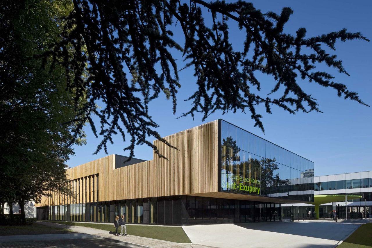 Groupe scolaire à Sarcelles / Gaetan Le Penhuel Architectes, © Hervé Abbadie