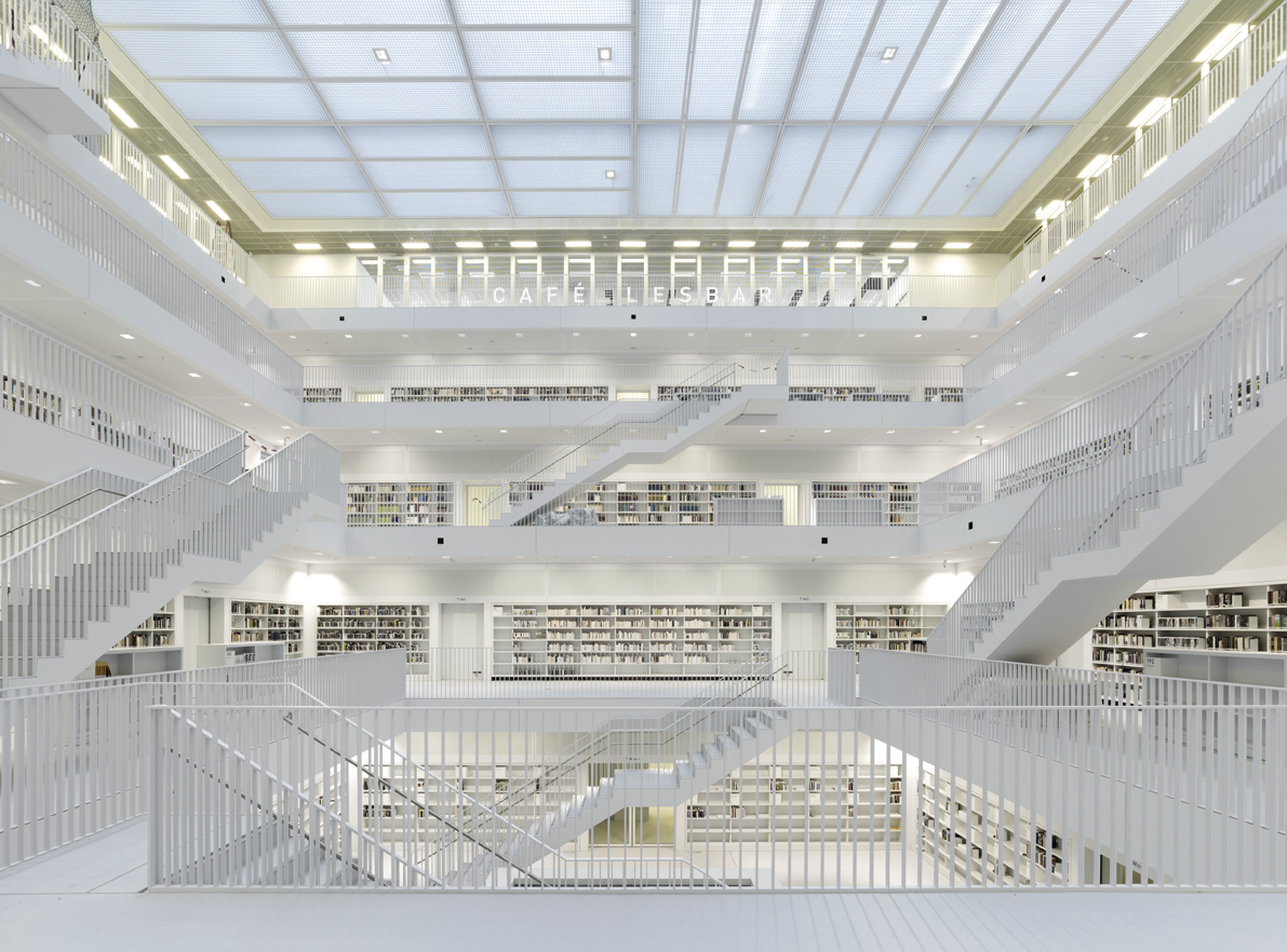 Stuttgart city library yi architects archdaily - Architecturen volumes ...