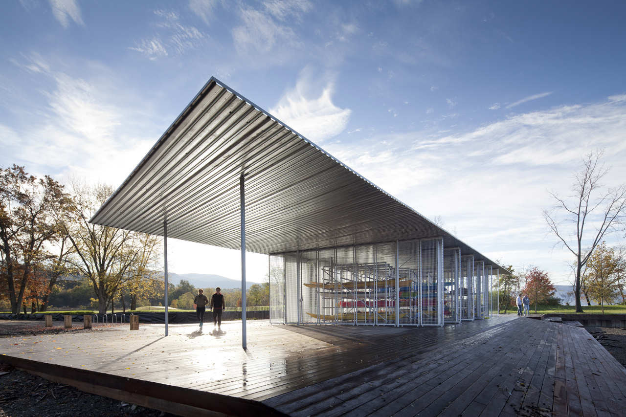 Hudson river education center and pavilion architecture R house architecture research office