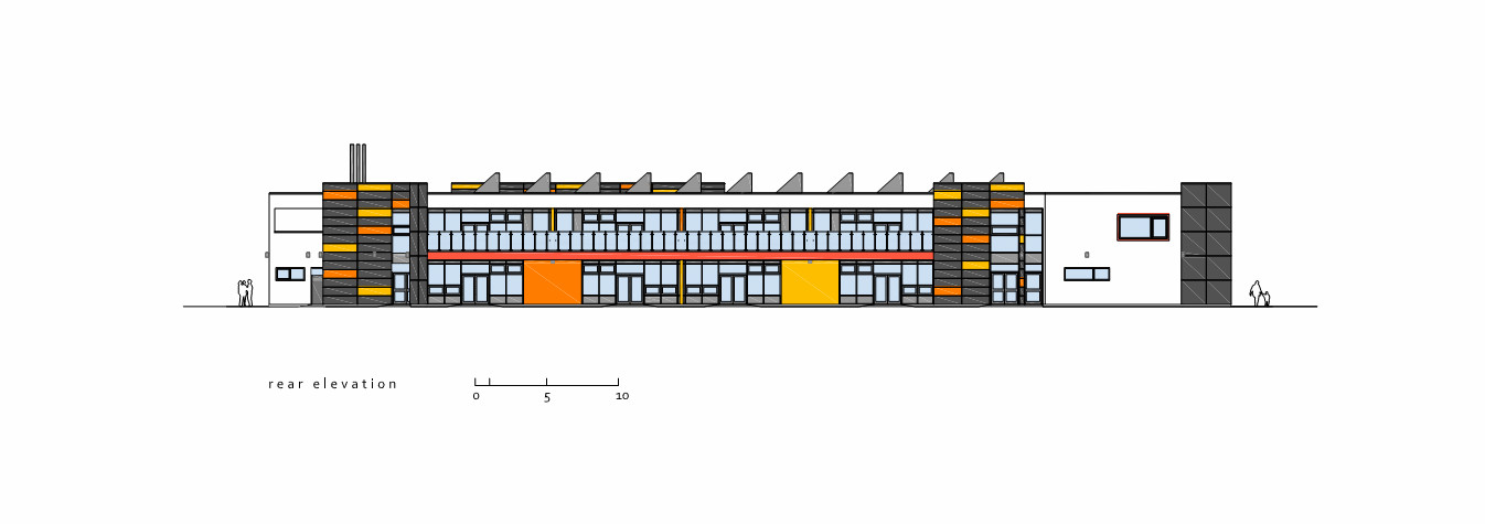 D Front Elevation Of School : Gallery of park brow community primary school