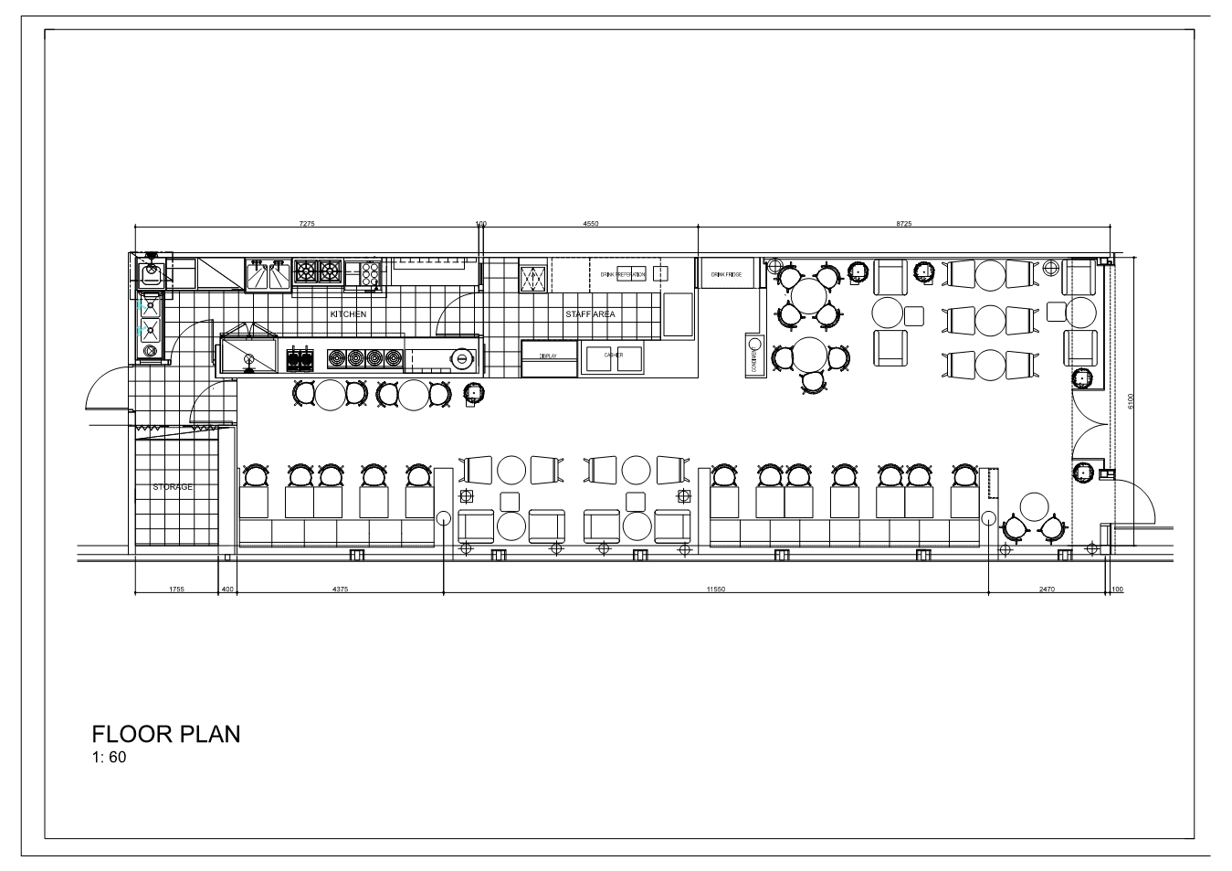 Gallery of pass plus cafe imagine native 7 for Coffee shop floor plan with dimensions