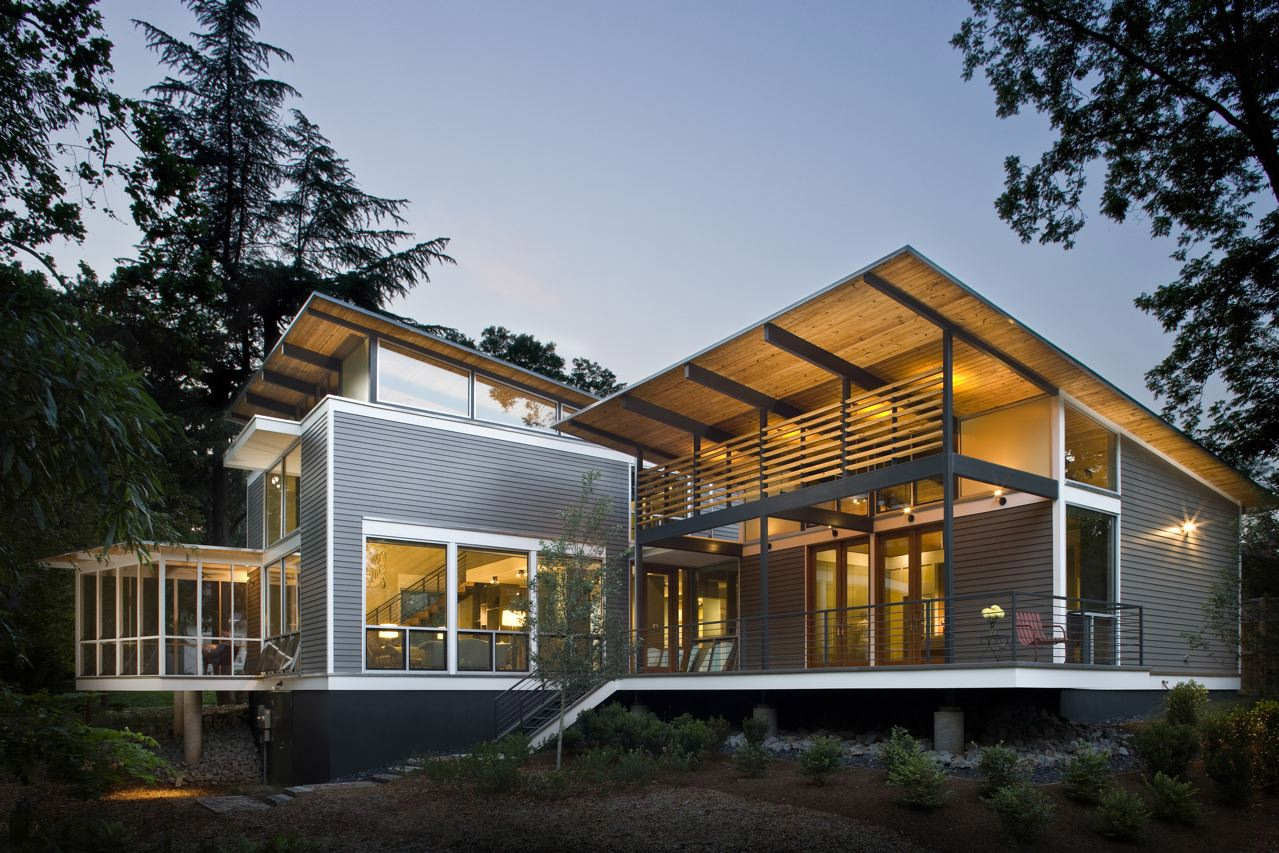 Gallery of the rainshine house robert m cain 1 for Modern house designs usa