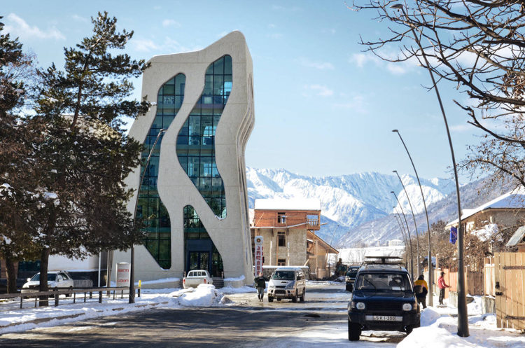 Mestia Police Station / J. Mayer H. Architects, Courtesy of  j. mayer h. architects