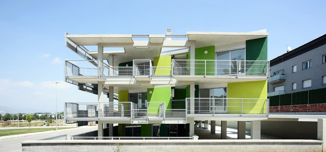 Santa Eugenia de Berga Social Housing / BailoRull ADD+ Arquitectura, © Courtesy Bailo Rullo ADD+