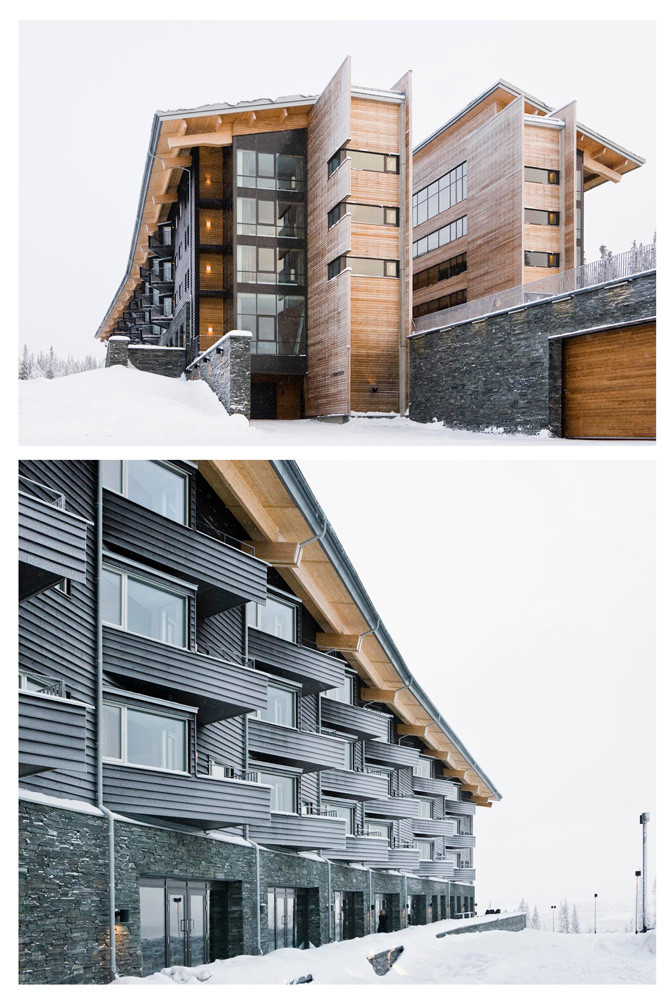 Gallery of copperhill mountain lodge bohlin cywinski for Mountain lodge architecture