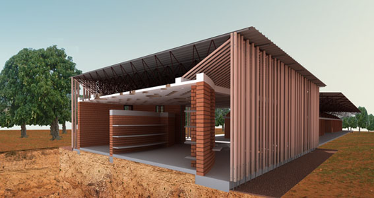 In Progress_School Library Gando / Kere Architecture, Courtesy of Kere Architecture