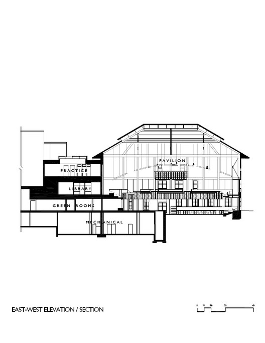 section / courtesy of Centerbrook Architects and Planners