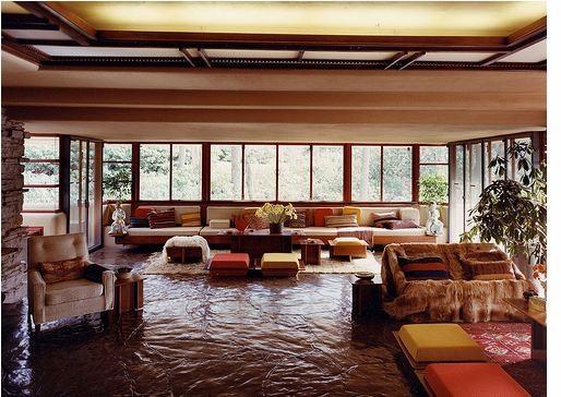 Frank Lloyd Wright Flooring : Gallery of ad classics fallingwater house frank lloyd