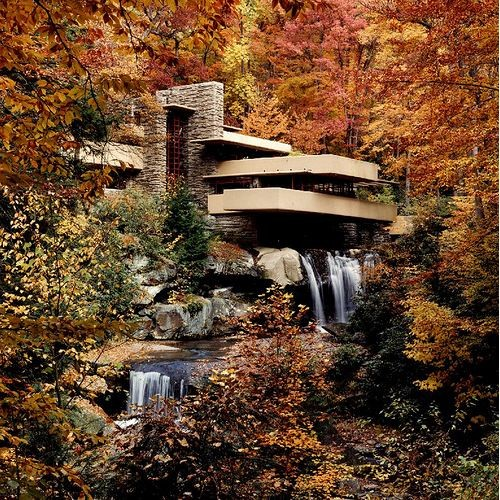 Ad classics fallingwater house frank lloyd wright for House built on waterfall