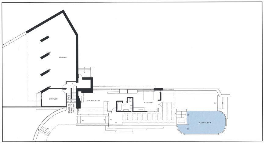 Guest First Floor Plan Guest First Floor Plan. Fallingwater ...