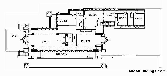 Gallery of ad classics frederick c robie house frank Frank lloyd wright house floor plans