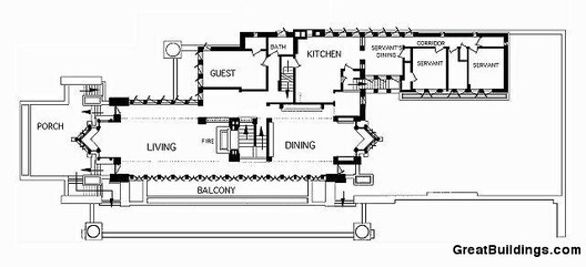 AD Classics Frederick C Robie House Frank Lloyd Wright ArchDaily