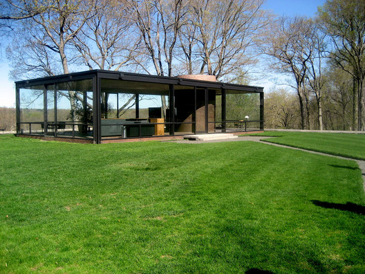 Glass House By Philip Johnson : Ad classics the glass house philip johnson archdaily