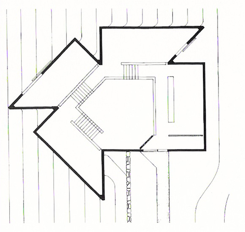 Gallery of ad classics the glass house philip johnson 14 for Glass house floor plans
