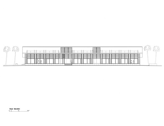 West Elevation, Courtesy of Richard Meier & Partners Architects