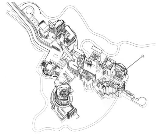 Axonometric, Courtesy of Richard Meier & Partners Architects