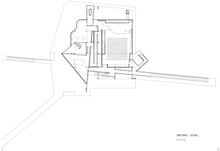 Second Floor, Courtesy of Richard Meier & Partners Architects