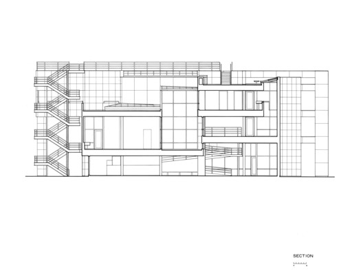 Section, Courtesy of Richard Meier & Partners Architects