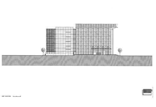 East Elevation, Courtesy of Richard Meier & Partners Architects