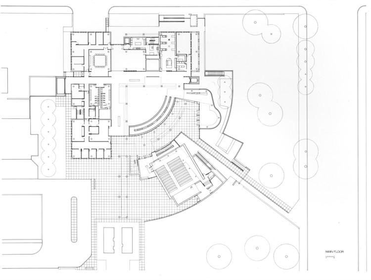 Ground Floor, Courtesy of Richard Meier & Partners Architects