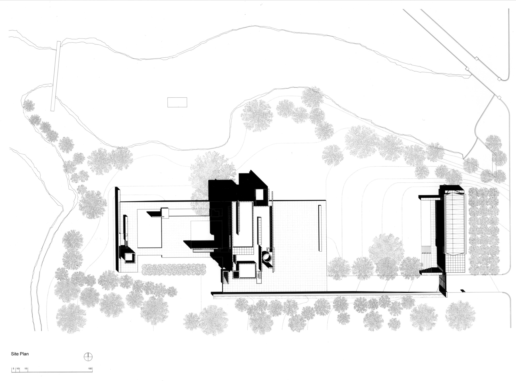 Gallery of ad classics rachofsky house richard meier for Adhouse plans