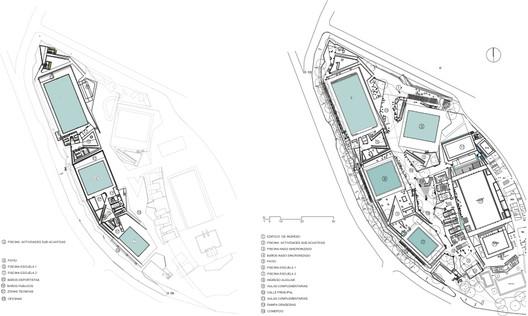 basement and level 01 floor plans