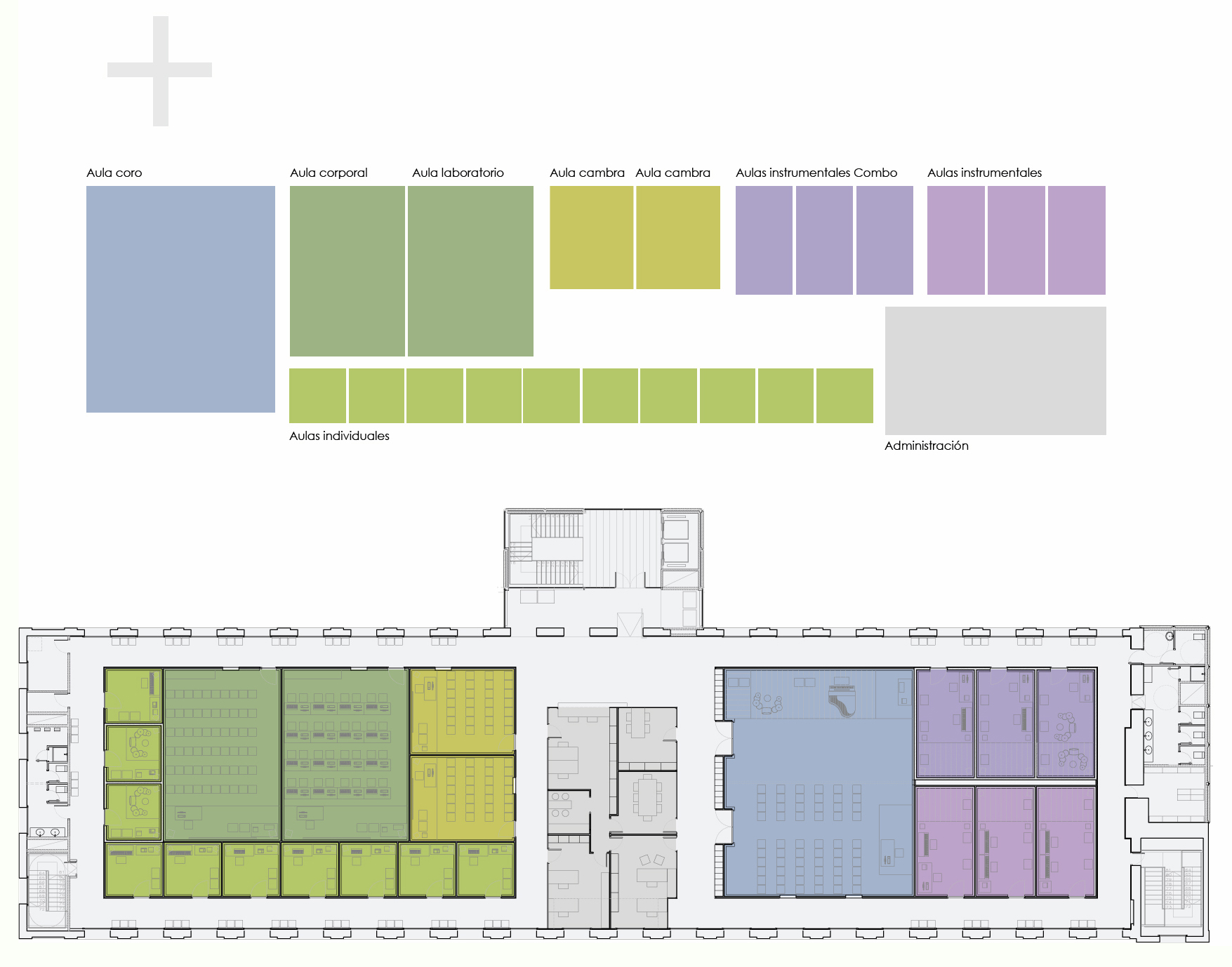 Gallery of music school project concept taller de musics for Plantas de arquitectura