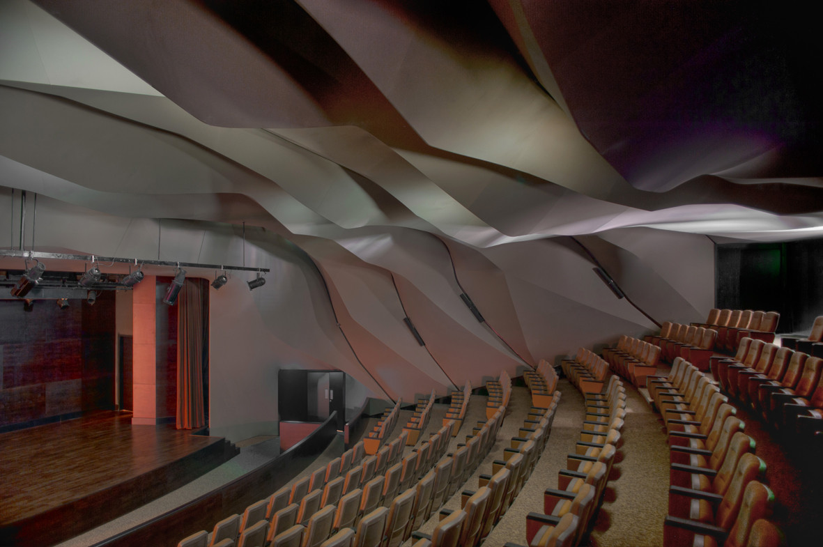 Gallery of masrah al qasba theater magma architecture 4 for Architecture and design home theater