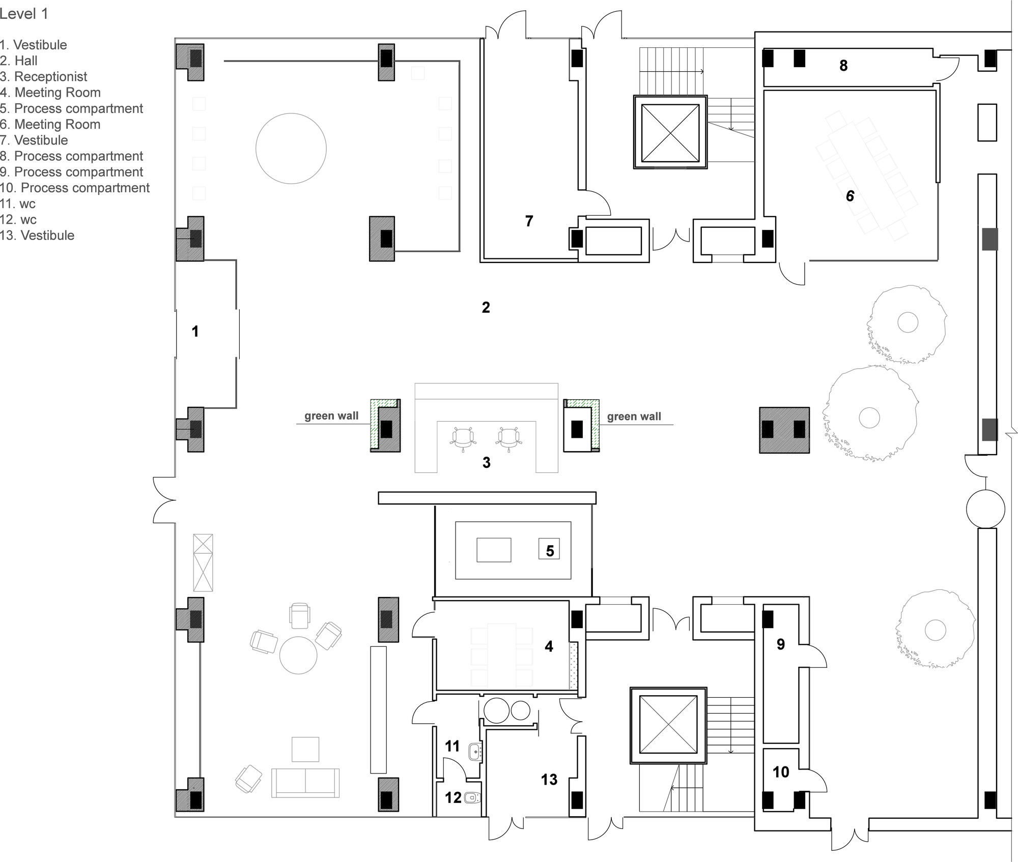 Office of technology company tseh architectural group for Floor plan companies