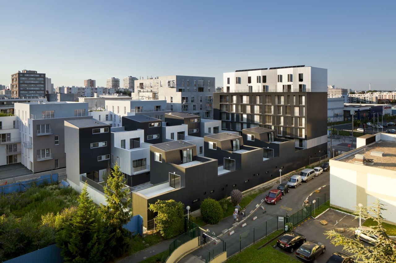 gallery of 48 logements vitry sur seine ga tan le penhuel architecture 2. Black Bedroom Furniture Sets. Home Design Ideas