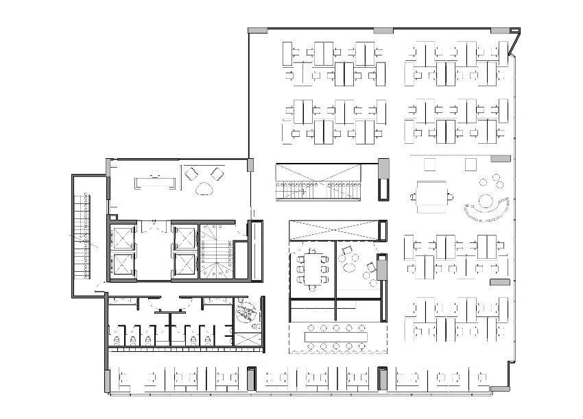 Galer a de oficinas jwt aei arquitectura e interiores 13 for Oficinas planta arquitectonica