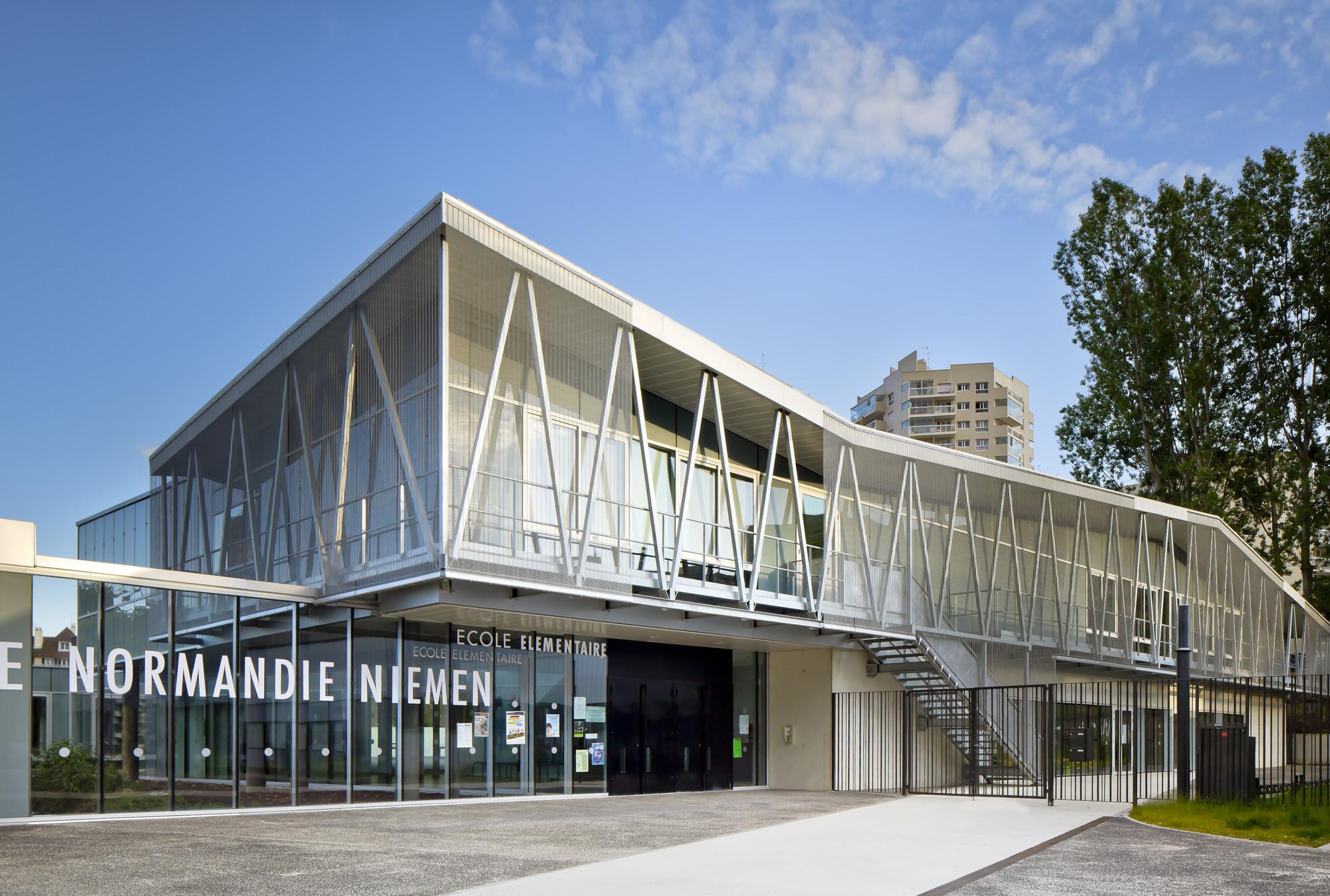 Groupe Scolaire Normandie-Niemen / Gaetan Le Penhuel Architectes, © Sergio Grazia