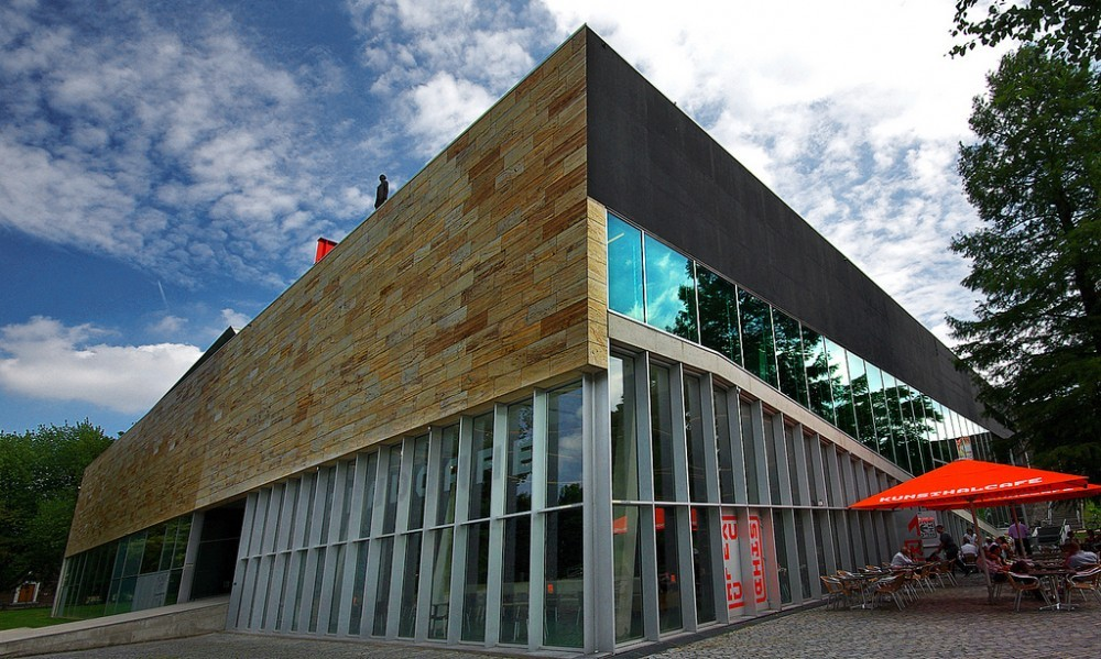 The Kunsthal Gallery in Rotterdam, designed by OMA, the site of a multi-million dollar art heist this week.