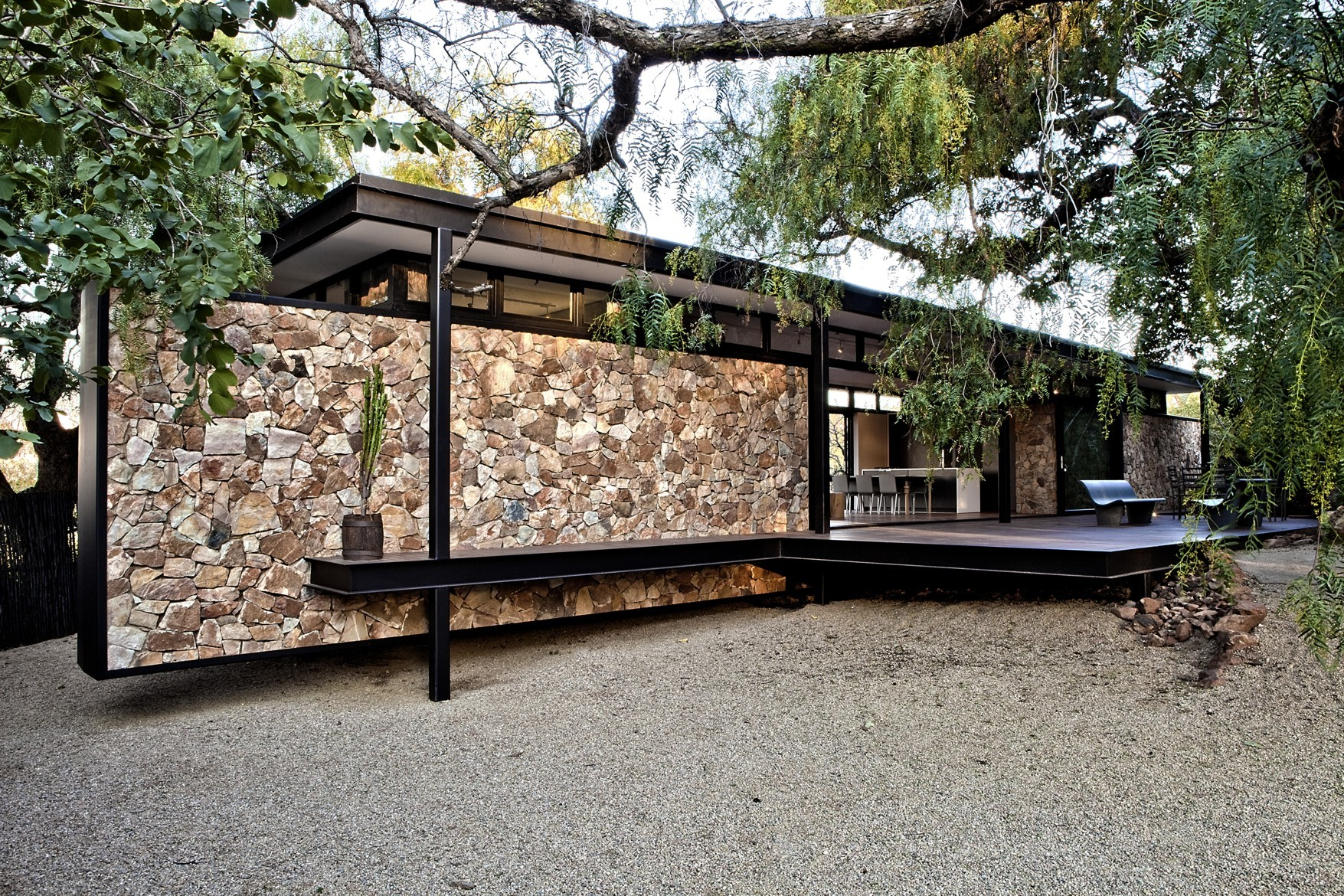 Westcliff pavilion gass archdaily - Steel home design ...