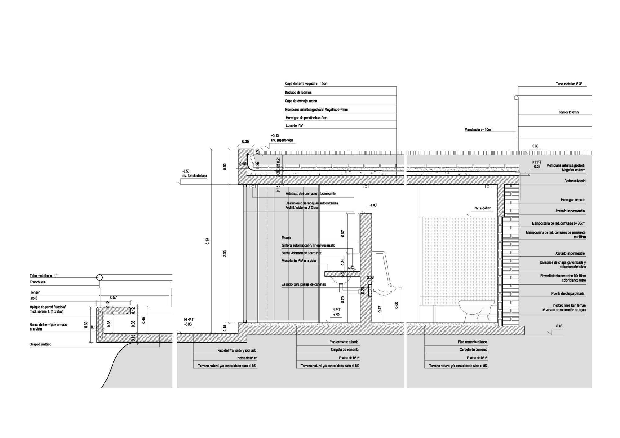 En Detalle Cortes Constructivos Infraestructura P Blica