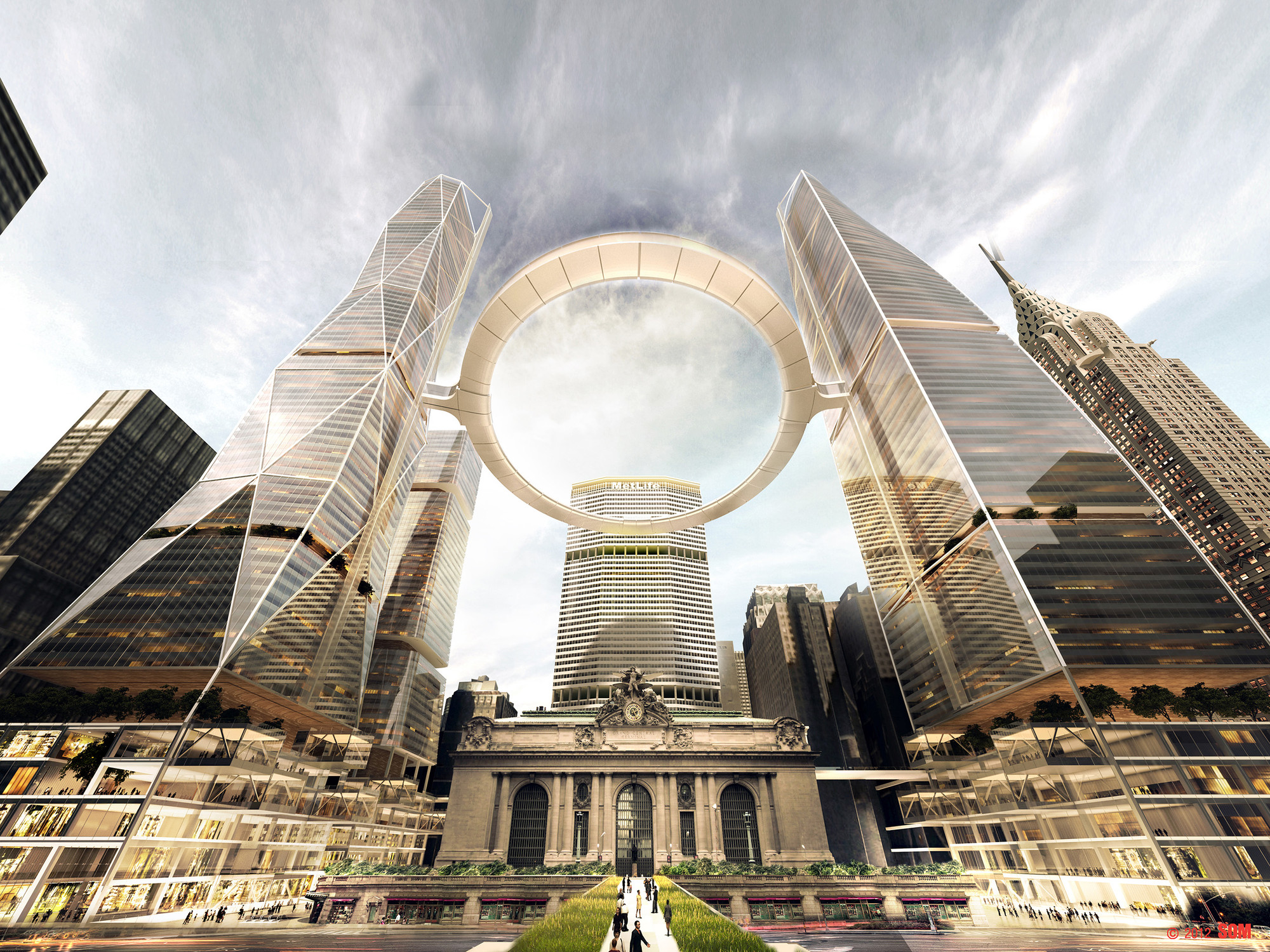 Which Grand Central Vision Is the Best for New York?, Courtesy of 2012 SOM
