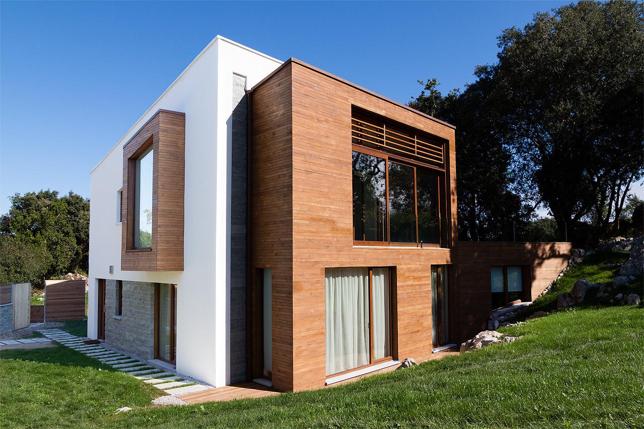 Casa entreencinas duque y zamora arquitectos - Casa legno moderna ...