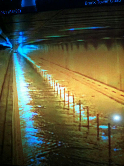 "Flickr User MTAPhotos ""Floodwaters from Hurricane Sandy enter the Hugh L. Carey Tunnel (former Brooklyn-Battery Tunnel). Governor Andrew M. Cuomo ordered the tunnel closed at 2 p.m. on Monday, October 29, 2012."""
