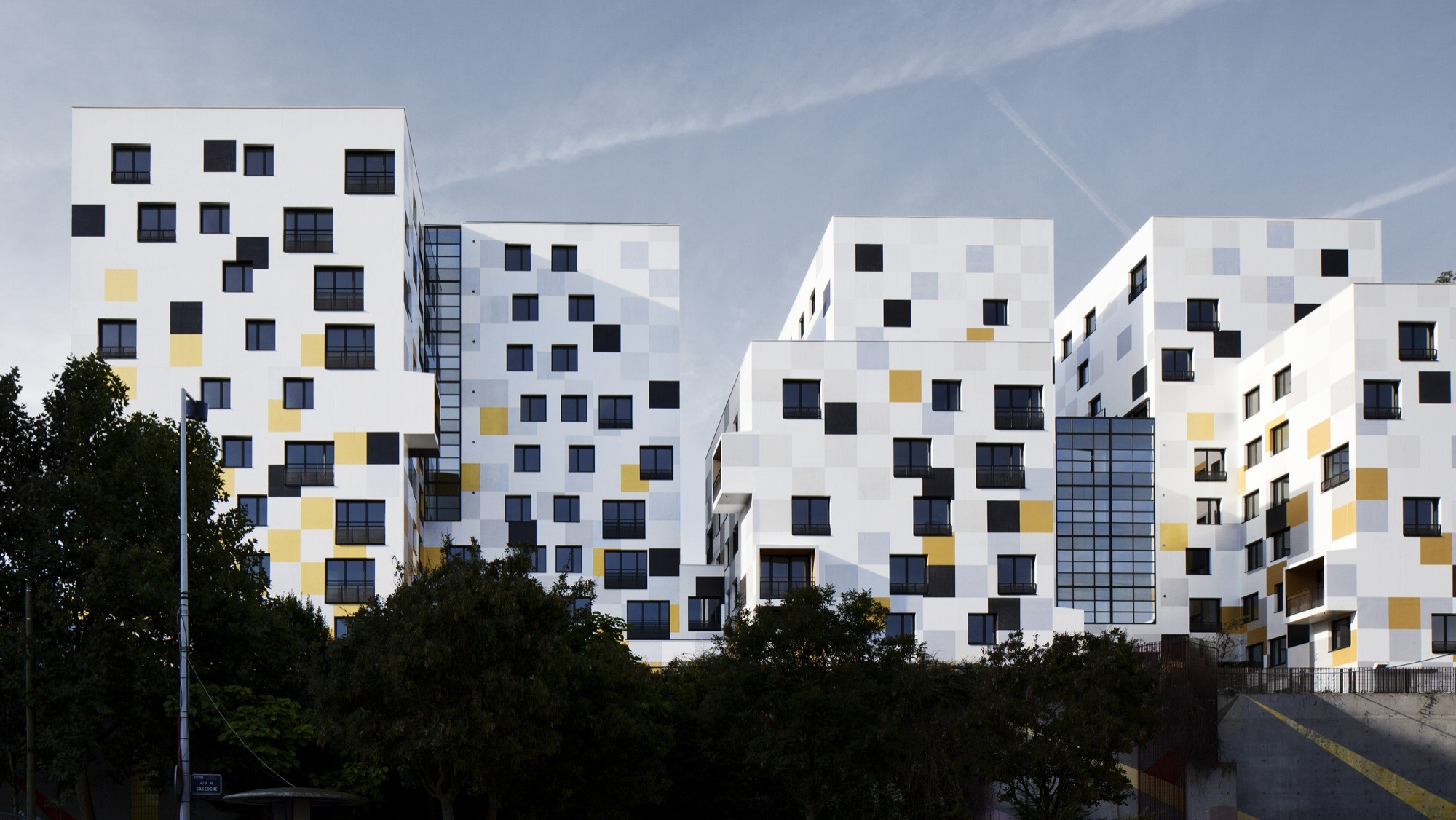gallery of apartment blocks in nanterre x tu 3. Black Bedroom Furniture Sets. Home Design Ideas