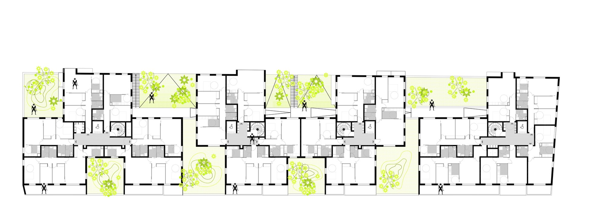 Gallery of apartment blocks in nanterre x tu 22 for Apartment block plans