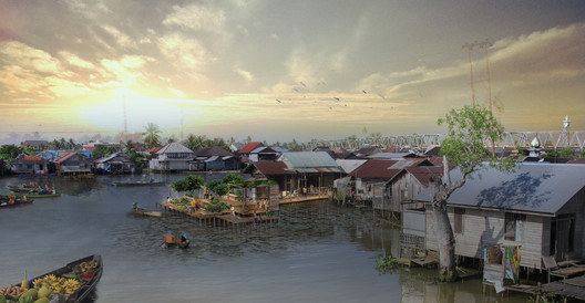 Firm Foundation, a 2013 SEED Award Winners, proposes a re-design of the waterfront for a poor community in Indonesia. Photo courtesy of Firm Foundation.