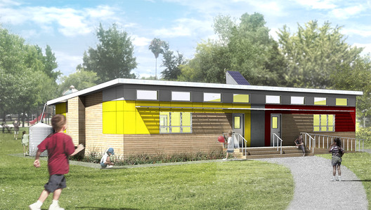 SAGE, a 2013 SEED Award Winner, a project to design affordable, green modular classrooms. Photo courtesy of SAGE.