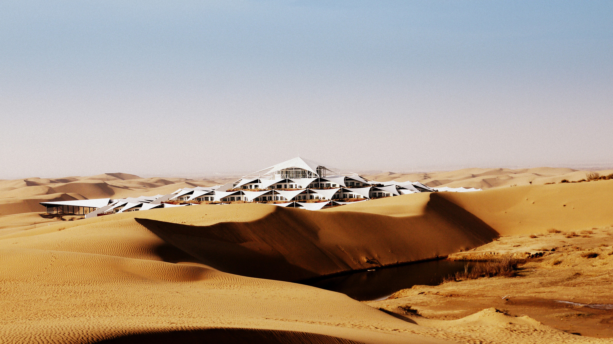 Xiangshawan Desert Lotus Hotel,Courtesy of PLaT Architects