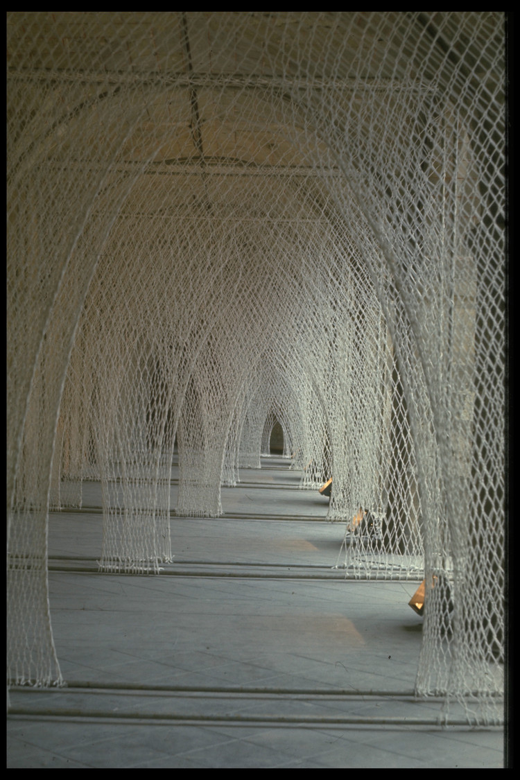 """Fibre Columns / Romanesque Church,"" by Toshiko Horiuchi MacAdam. Photo © Masaki Koizum."