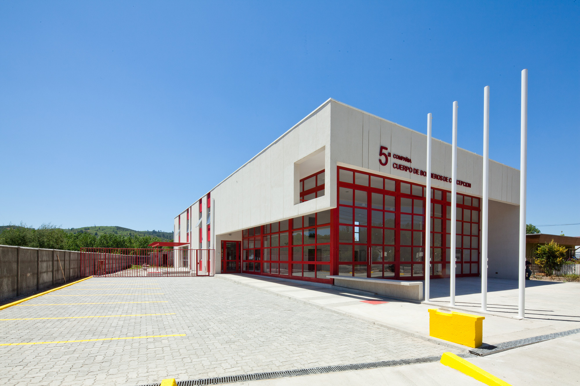 5º Compañía Cuerpo de Bomberos de Concepción / Andreu Arquitectos, © Juan Eduardo Sepúlveda G.