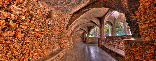Porche Colonia Guell, by Gaudi. Photo via Flickr User CC xn44. Used under <a href='https://creativecommons.org/licenses/by-sa/2.0/'>Creative Commons</a>