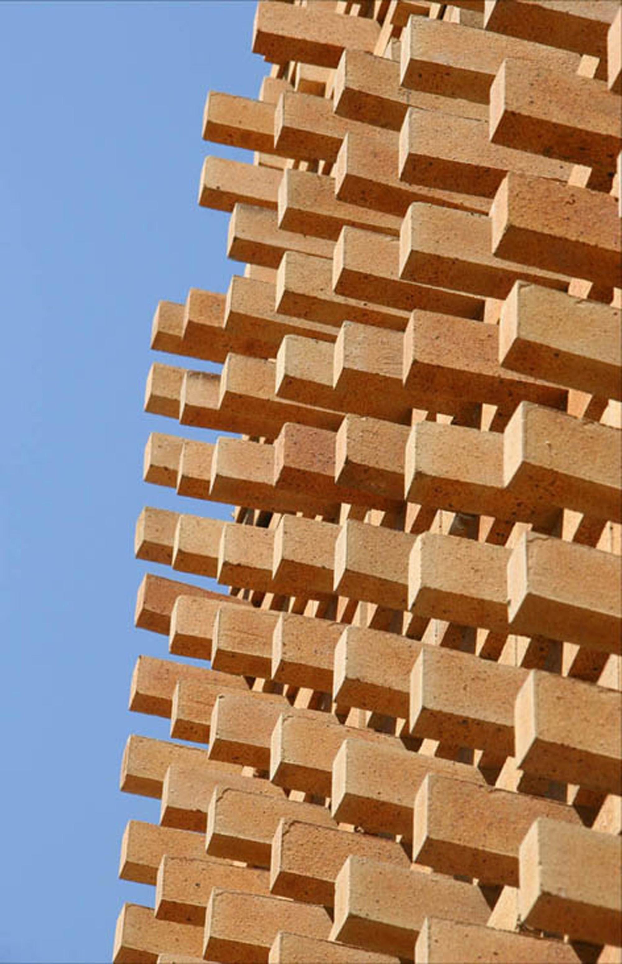 Gallery of brick pattern house alireza mashhadmirza 12 for Uses for a brick