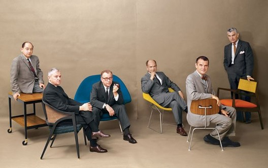 """The Mad Men of Mid-Century Design"" - George Nelson, Edward Wormley, Eero Saarinen, Harry Bertoia, Charles Eames and Jens Risom. Playboy Magazine, July 1961. Image via The Selvedge Yard."