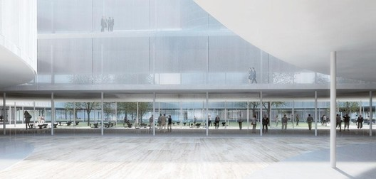 The new Bocconi University campus by SANAA. Photo via Domus.